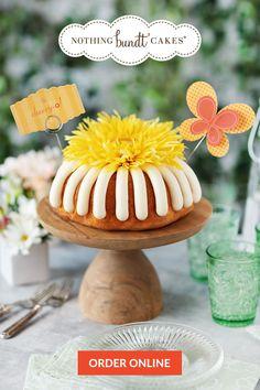 2nd Birthday Party Themes, Tea Party Birthday, Nothing Bundt Cakes, Carousel Cake, Cupcake Cakes, Cupcakes, Yellow Birthday, Tasty Bites, Buttercream Cake