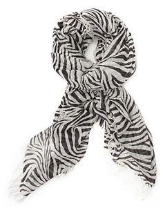 Silk zebra scarf