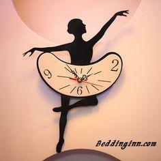 Creative Ballet Dancing Girl Acrylic Mute Wall Clock Live a better life, start with @beddinginn http://www.beddinginn.com/product/Creative-Bellet-Dancing-Girl-Acrylic-Wall-Clock-10787058.html