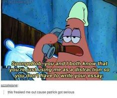 yeah I freaked out bc Patrick is always super chill and then he suddenly fliPPED siDes and became an adult