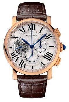 Cartier Rotonde de Cartier Tourbillon Chronograph Watch - Copy