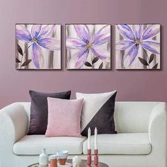 5 Piece Canvas Art, Framed Canvas Prints, Canvas Frame, Canvas Wall Art, Lotus Painting, 3 Piece Painting, Dining Room Wall Art, Empty Wall Spaces, Acrylic Painting Techniques