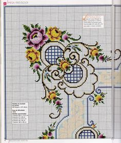 ru / Fotografie č. 119 - Uteráky a obrusy - gada Cross Stitch Rose, Cross Stitch Borders, Cross Stitch Flowers, Cross Stitch Charts, Cross Stitch Designs, Cross Stitching, Cross Stitch Embroidery, Embroidery Patterns, Cross Stitch Patterns