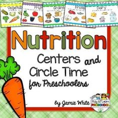 Healthy Kids are Happy Kids! This Nutrition Unit is the perfect way to introduce your preschoolers to food groups and good health.It includes 5 Circle Time Lessons1. What Are Food Groups? - Lesson with 6 full-color food group posters2. Healthy Choices - food group song3.