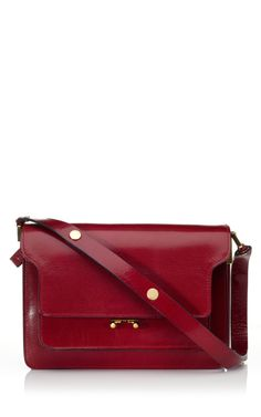 Shop Marni Hot Red Envelope Shoulder Bag at Moda Operandi