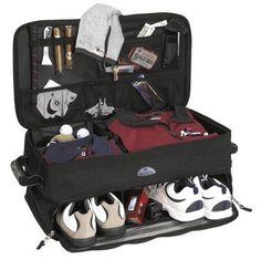 Golf Sports Travel Bag Car Trunk Organizer Golf Gear Collapsible Storage Locker