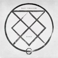 Runes by Bury Tomorrow: Amazon.co.uk: Music  COLOUR: Black and white MEDIA: Hand rendered TYPOGRAPHY: Classic style LAYOUT: Very centered