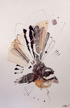 Rachel Walker — Piwakawaka Little Art Inspo, Inspiration Art, Art Maori, Art Et Illustration, Animal Illustrations, Illustrations Posters, New Zealand Art, Nz Art, Bird Artwork