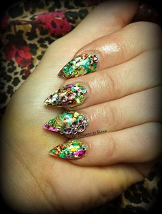 fall, birthday almond shaped nails