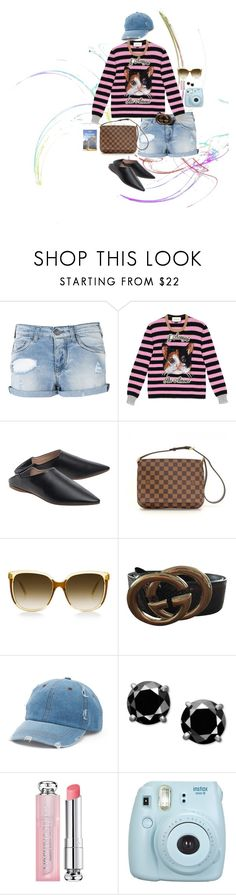 """Unbenannt #1052"" by lila77 ❤ liked on Polyvore featuring Armani Jeans, Gucci, Acne Studios, Louis Vuitton, Steven Alan, Mudd, Christian Dior, Fujifilm and Lonely Planet"