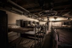 The sick-bay from a cold war nuclear bunker. #urbex #ArtHakker #HDRphotography