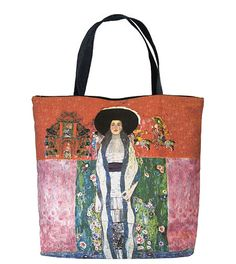 Our Klimt Portrait of Adele Tote Bag is one of our newest Klimt Art Gifts! With Free Shipping Everyday, this art tote with zip top, interior liner and inside pocket is a great gift for you or your favorite Klimt Fan!