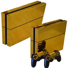 Gold Glossy PS4 Decal Sticker Set