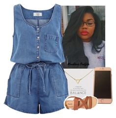 """Basic but cute"" by renipooh ❤ liked on Polyvore featuring Dogeared and New Look"
