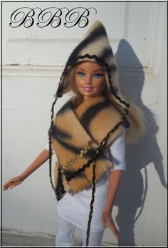 Barbie Clothes Winter Accessories by BarbieBoutiqueBasics on Etsy..Even Barbie is looking trendy this year! LOVE!  Eddie