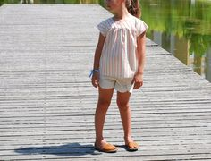 Ice Cream Blouse, Class Picnic Shorts, sewing patterns from Oliver + S