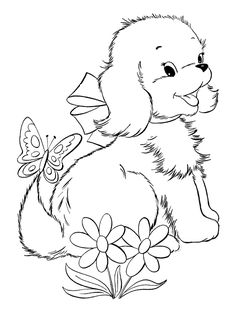 Cute Puppy Coloring Pages: These puppy coloring pages printable are extremely cute and adorable. They will give your kid the opportunity to learn more about the finer art of coloring.