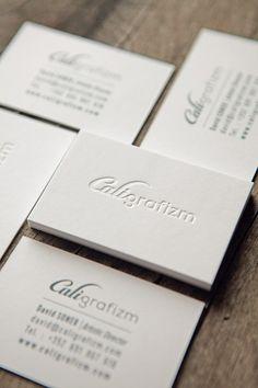 Carte de visite Caligrafizm recto verso sur papier Gmund Cotton/ letterpress business cards printed onto cotton paper