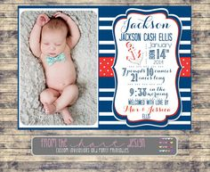 printable nautical birth announcement with by pinkstarfishdesigns henry pinterest baby birth nurseries baby and nursery art