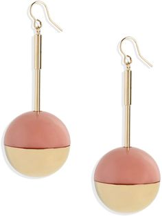 Marni Earrings in Gold (Pink)