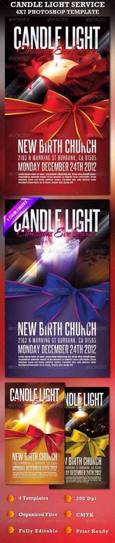 Candle Light Service 4X7 Photoshop Template- Price: $6.00