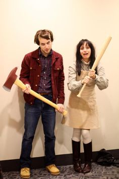 DIY Funny, Clever and Unique Couples Halloween Costume Ideas DIY-Paare Halloween-Kostüm-Ideen – Jack und Wendy – Scary The Shining Movie Characters Paare-Kostüm-Idee via Gurl Costume Halloween, Unique Couple Halloween Costumes, Last Minute Halloween Costumes, Halloween 2017, Halloween Diy, Unique Couples Costumes, Movie Couples Costumes, Couple Costume Ideas, Movie Character Halloween Costumes
