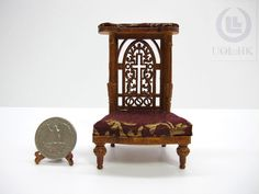 1:12 Scale Miniature Prayer Kneeler For Doll House [ Finished in walnut] by UOLHKscalefurniture on Etsy https://www.etsy.com/listing/206476107/112-scale-miniature-prayer-kneeler-for