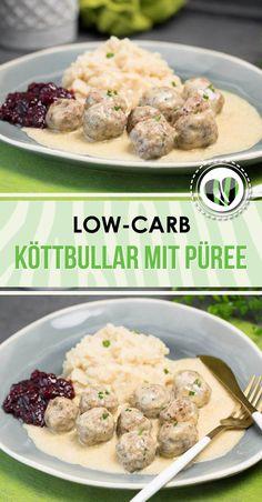 Die Köttbullar mit Sellerie-Püree sind lowcarb, glutenfrei und super lecker.
