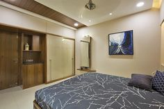 I am a interior designer from baroda. involved in residential, retail,commercial and small to corporate office interior designing and architectural work. Asian Style Bedrooms, Sliding Wardrobe Doors, Bedroom Closet Design, Flat Interior, Modern Bedroom, Master Bedrooms, Home Office Design, Ceiling Design, Office Interiors
