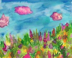 In bloom- original water color