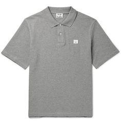 ACNE STUDIOS Falco Cotton-Piqué Polo Shirt. #acnestudios #cloth #polos