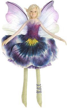 Bendable Petal Fairies Pansy Garden Fairy