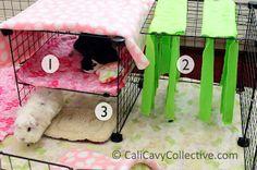 3diy C&C bunk bed fleece forest