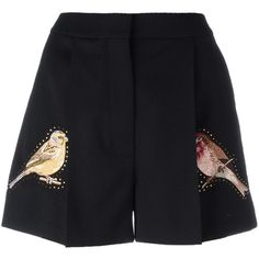 Stella McCartney Short com bordado Embroidered Bird, Embroidered Shorts, Pleated Shorts, High Waisted Shorts, Jupe Short, Studded Shorts, Corte Y Color, Kpop Outfits, Kpop Fashion