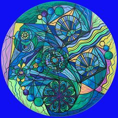 "Teal Scott-Frequency Paintings    ""Arcturian Immunity Grid"""