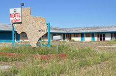 Abandoned Route 66 motel in McLean Texas