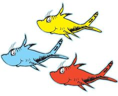 Dr Seuss Fish Template Dr Seuss S One Fish Two Fish Red