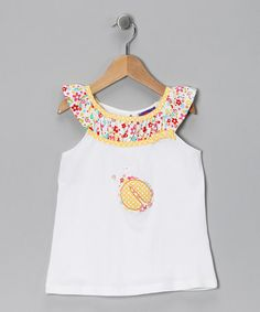 Take a look at this White Ladybug Top - Girls by CR Cute on #zulily today!
