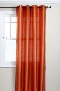 Amazon.com: Stylemaster Tribeca 56 by 84-Inch Faux Silk Grommet Panel, Mandarin: Home & Kitchen