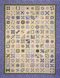 Sylvia's Bridal Sampler is a 140 block sampler quilt made by the characters in the novel, The Master Quilter, the sixth in the Elm Creek Quilts series by Jennifer Chiaverini.