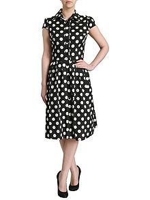 Polka Dot Shirt Dress h o f