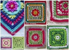 The Kalevala CAL is a blanket project where each participant can crochet their own Kalevala inspired blanket. square patterns, joining and the border, several languages. Granny Square Crochet Pattern, Crochet Squares, Crochet Granny, Granny Squares, Crochet Motif, Crochet Patterns, Pattern Design, Free Pattern, Square Patterns