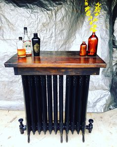 Historical restore repurposed radiator heaters and barn wood Upcycle Recycle, Old Radiators, Cheap Furniture Stores, Refinishing Furniture, Wood Projects, Repurposed Items, Flipping Furniture, Repurposed Furniture, Barn Wood Crafts