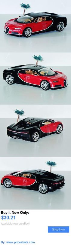Toys And Games: Bugatti Chiron - New - 1:18 Diecast Model Car - Red/Black BUY IT NOW ONLY: $30.21 #priceabateToysAndGames OR #priceabate