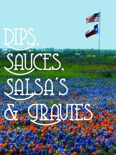 DIPS, SAUCES,SALSAS AND GRAVIES