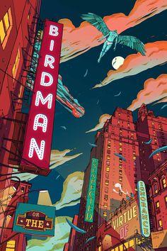 Birdman #alternative #movie #art #poster #complex #illustration #film #creative