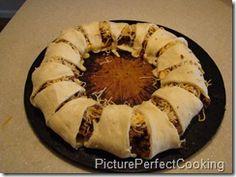 Taco ring (using crescent rolls)