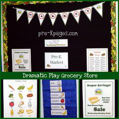 dramatic play farmers market signs