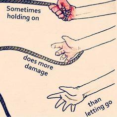 Let go or be dragged. Via @awake_spiritual by sun_gazing