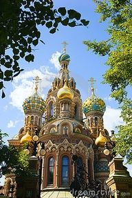 "Spas-na-krovi Cathedral, St. Petersburg  (""church on the spilled blood"")"